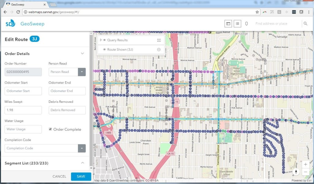 Geo-Enabling Street Sweeping Routes Using ArcGIS & SAP HANA ... on java map, purple map, qualcomm map, great plains map, california republic map, project management map, sql map,