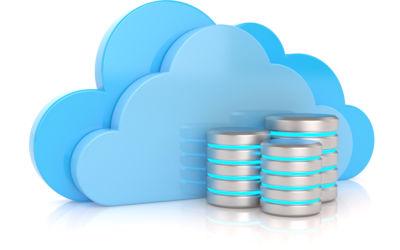 Cloud computing. Database concept