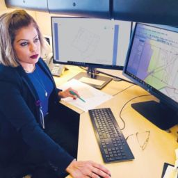 County of San Diego senior analyst Brenda Maldonado uses the custom GIS tools that Quartic Solutions developed to maintain the assessor's office's map books