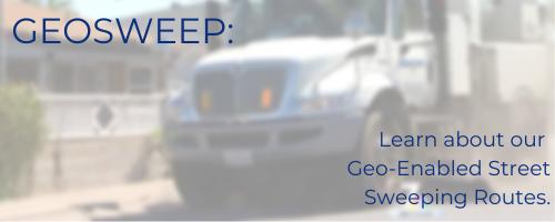 geo-enabled street sweeping app geosweep
