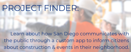 san diego's project finder app communicates with public